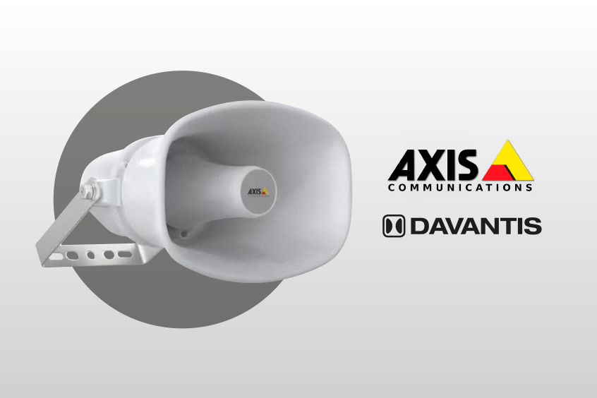 Altavoces de red IP de Axis integrados con DAVANTIS