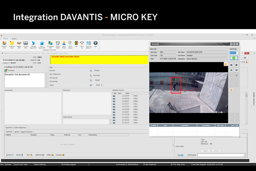 Integration DAVANTIS - Micro Key