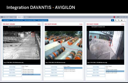 Integration DAVANTIS-AVIGILON
